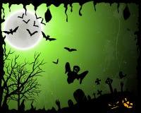 Tarjeta de felicitación de Halloween Fotografía de archivo libre de regalías
