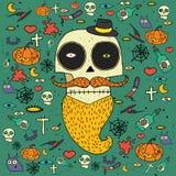 Tarjeta de felicitación de Halloween ilustración del vector