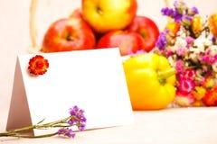 Tarjeta de felicitación de la acción de gracias Imagen de archivo