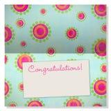 Tarjeta de felicitación de la celebración con el copyspace en escritura de la etiqueta Foto de archivo libre de regalías