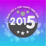 Tarjeta 2015 de felicitación de la celebración de la Feliz Año Nuevo Imagen de archivo