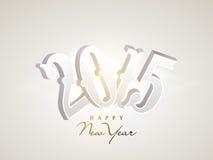 Tarjeta 2015 de felicitación de la celebración de la Feliz Año Nuevo Fotos de archivo