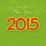 Tarjeta 2015 de felicitación de la celebración de la Feliz Año Nuevo Fotografía de archivo libre de regalías