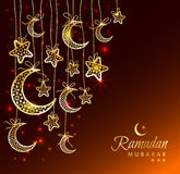 Tarjeta de felicitación de la celebración de Ramadan Kareem Fotos de archivo