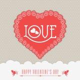 Tarjeta de felicitación de la celebración del día de tarjeta del día de San Valentín Fotos de archivo