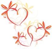 Tarjeta de felicitación de la cinta del corazón - S Fotografía de archivo libre de regalías