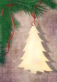 Tarjeta de felicitación de la decoración de la Navidad Imágenes de archivo libres de regalías