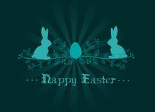 Tarjeta de felicitación de la decoración de Pascua Imagenes de archivo