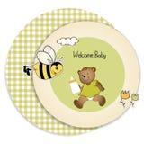 Tarjeta de felicitación de la ducha de bebé Foto de archivo libre de regalías