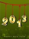 Tarjeta de felicitación de la Feliz Año Nuevo 2013. Imágenes de archivo libres de regalías