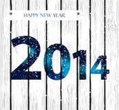 Tarjeta de felicitación de la Feliz Año Nuevo 2014. Fotografía de archivo
