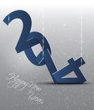 Tarjeta de felicitación de la Feliz Año Nuevo. Fotografía de archivo