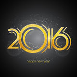 Tarjeta 2016 de felicitación de la Feliz Año Nuevo Imágenes de archivo libres de regalías