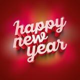 Tarjeta de felicitación de la Feliz Año Nuevo Fotos de archivo