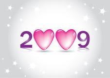 Tarjeta de felicitación de la Feliz Año Nuevo Fotos de archivo libres de regalías