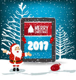 Tarjeta de felicitación de la Feliz Año Nuevo 2017 Imagen de archivo