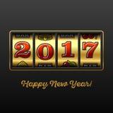 Tarjeta 2017 de felicitación de la Feliz Año Nuevo Foto de archivo