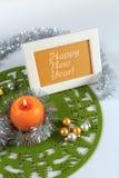 Tarjeta de felicitación de la Feliz Año Nuevo Foto de archivo libre de regalías
