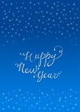 Tarjeta de felicitación de la Feliz Año Nuevo Foto de archivo