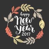 Tarjeta 2017 de felicitación de la Feliz Año Nuevo Imagen de archivo