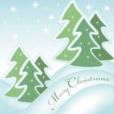 Tarjeta de felicitación de la Feliz Navidad 1 stock de ilustración