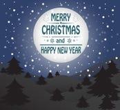 Tarjeta de felicitación de la Feliz Navidad Imagenes de archivo