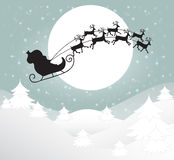Tarjeta de felicitación de la Feliz Navidad Imagen de archivo