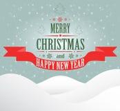 Tarjeta de felicitación de la Feliz Navidad Imágenes de archivo libres de regalías