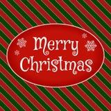 Tarjeta de felicitación de la Feliz Navidad Imagen de archivo libre de regalías