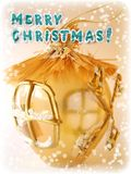 Tarjeta de felicitación de la Feliz Navidad fotos de archivo libres de regalías
