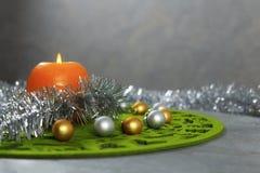 Tarjeta de felicitación de la Feliz Navidad Fotografía de archivo