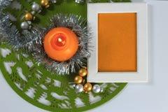 Tarjeta de felicitación de la Feliz Navidad Foto de archivo