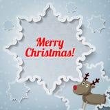 Tarjeta de felicitación de la Feliz Navidad con el lugar para su Foto de archivo libre de regalías