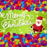 Tarjeta de felicitación de la Feliz Navidad con el lugar para su Imágenes de archivo libres de regalías
