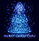 Tarjeta de felicitación de la Feliz Navidad Vector Fotos de archivo