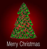 Tarjeta de felicitación de la Feliz Navidad Vector Foto de archivo libre de regalías