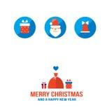 Tarjeta de felicitación de la Feliz Navidad y de la Feliz Año Nuevo Imagenes de archivo