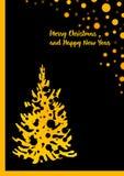 Tarjeta de felicitación de la Feliz Navidad y de la Feliz Año Nuevo Libre Illustration