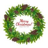 Tarjeta de felicitación de la Feliz Navidad y de la Feliz Año Nuevo Imagen de archivo libre de regalías