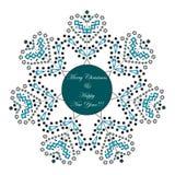 Tarjeta de felicitación de la Feliz Navidad y de la Feliz Año Nuevo Concepto del invierno Tema de la celebración de Navidad stock de ilustración