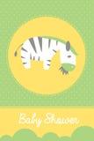 Tarjeta de felicitación de la fiesta de bienvenida al bebé Imagenes de archivo