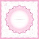 Tarjeta de felicitación de la fiesta de bienvenida al bebé para la muchacha Imagen de archivo libre de regalías