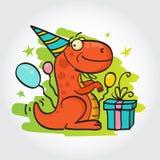 Tarjeta de felicitación de la fiesta de cumpleaños Imágenes de archivo libres de regalías