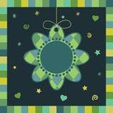 Tarjeta de felicitación de la flor stock de ilustración