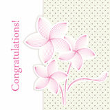 Tarjeta de felicitación de la flor retra Fotografía de archivo