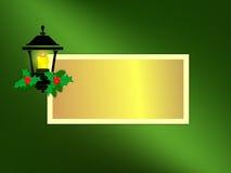Tarjeta de felicitación de la linterna del día de fiesta Fotografía de archivo libre de regalías