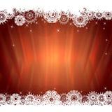 Tarjeta de felicitación de la luz de la Navidad Imagenes de archivo