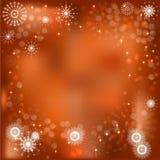 Tarjeta de felicitación de la luz de la Navidad Fotografía de archivo libre de regalías