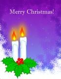 Tarjeta de felicitación de la Navidad Fotos de archivo libres de regalías