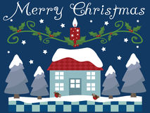 Tarjeta de felicitación de la Navidad Fotografía de archivo